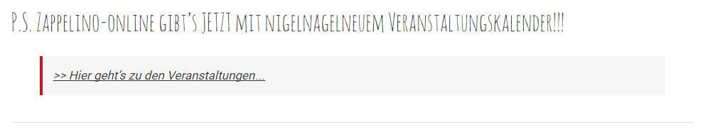 Veranstaltungskalender, Veranstaltungen für 73669 Lichtenwald